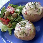 recette Pomme de terre farcie aux lardons et emmental