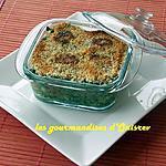 recette Hachis Parmentier à la florentine, chapelure gourmande