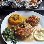 recette Poissons en papillottes avec ses petits Légumes.............