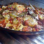 recette Gratin dePommes de terre tomates et chair à saucisse.