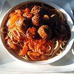 recette Spagetti aux boulettes sauce chili