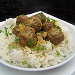 recette Boulettes de viande  au curry