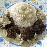 recette Boulette de viande hachée, sauce crémeuse aux olives