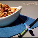 recette ** Saumon laqué à la Sauce teriyaki ( ou terriyaki) qui permet aussi de réaliser des brochettes yakitori**