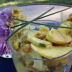 recette Salade concombre, pommes, curry et raisins secs