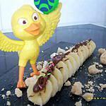 recette le dessert préfèré de mon fils Melvin ( la banane au nutella meringuée )