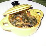 recette Mini cocotte de moules au beurre d'escargot maison