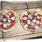 recette Tartelettes tomates/chèvre et petits soufflés au fromage