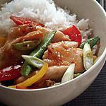 recette Sauté de poulet et legumes croquants
