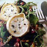 recette Salade de chèvres chaud