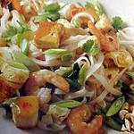 recette Pad Thaï de crevettes