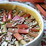 recette Tarte à la rhubarbe et aux graines de tournesol