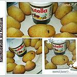 recette madeleine au nutella