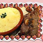 recette Côtes d'agneau et sa purée d'asperge