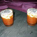 recette verrines crème de chèvre sur lit de poivron rouge