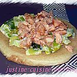 recette Blinis à la fondue de poireaux et saumon