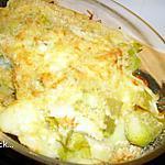 recette gratin pommes de terre et poireaux
