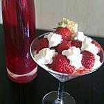 recette Verrine feuillettée à la fraise.