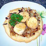 recette Tartelettes fines de Saint-Jacques au confilt d'endives et d'échalotes.........