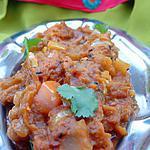 recette Recette indienne Caviar d'aubergines