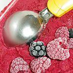 recette glace aux framboises