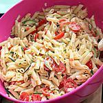 recette Salade de pennete aux tomates cerises