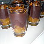 recette Crème au chocolat et ses suprêmes d'orange