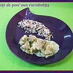 recette Mijoté de porc aux cacahuètes