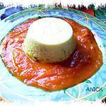recette Flans de courgettes sur coulis de tomate