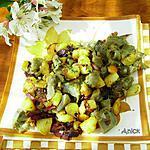 recette Fricassée d'artichauts, pommes de terre nouvelles, chorizo et thym frais
