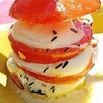 recette Brochettes de millefeuille de tomates et mozarella roti au thym