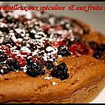 recette ** Gâteau fondant aux spéculoos, tofu soyeux et fruits rouges ..sans beurre, sans crème, ni oeuf  ajoutés**