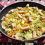 recette Poelée de pommes de terre au petit pois carottes