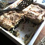 recette LASAGNES GRENOUILLES-CHAMPIGNONS-EPINARDS