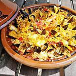 Tajine aux fruits de mer version paella