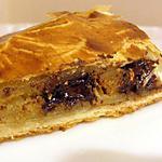 recette Galette des rois à la noisette , aux poires, pépites de chocolat et caramel