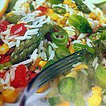 recette Salade de riz aux asperges et maïs