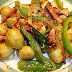 recette Pommes de Terre nouvelle Poivron,Lardons