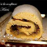 recette Roulé à la confiture de Kiwis