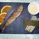 recette Merlan frit et duo d'asperges sauce maltaise