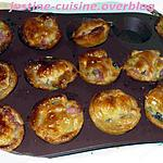 recette mini tourtes lardons champignons
