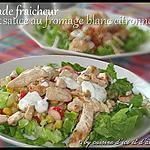 recette Salade fraicheur & sa sauce au fromage blanc citronnée