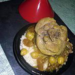recette Couscous poulet, oignons confits et raisins sec