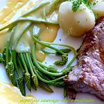 recette asperges sauvage sauce maltaise