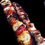 recette Aie ! Poulet embroché mariné (aux agrumes et curry...)