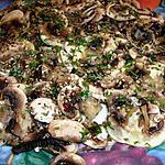 recette Salade de champignons crus au sésame