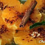 recette Salade d'oranges, cannelle, eau de fleur d'oranger