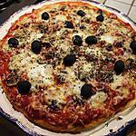 Pizza jambon, mozzarella