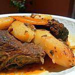 recette Tajine de viande M'chermel aux pommes de terre