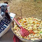 recette Salade de pates pipe rigate composé à la macédoine de legumes